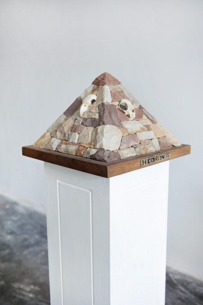 Hedron II sandstone sculpture by Cal the Stoner